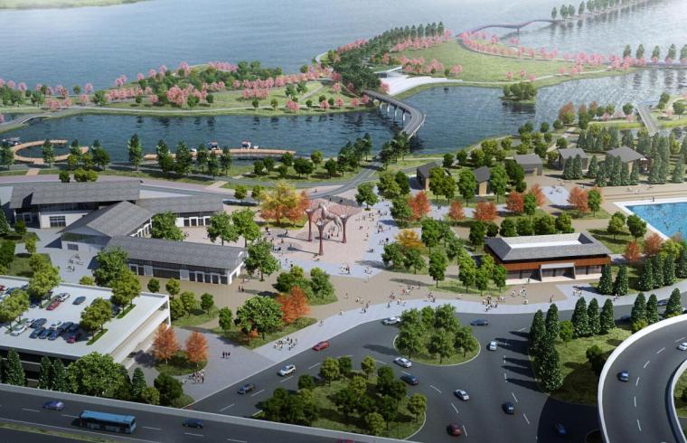 [湖北]中式风格特色小镇景观概念设计