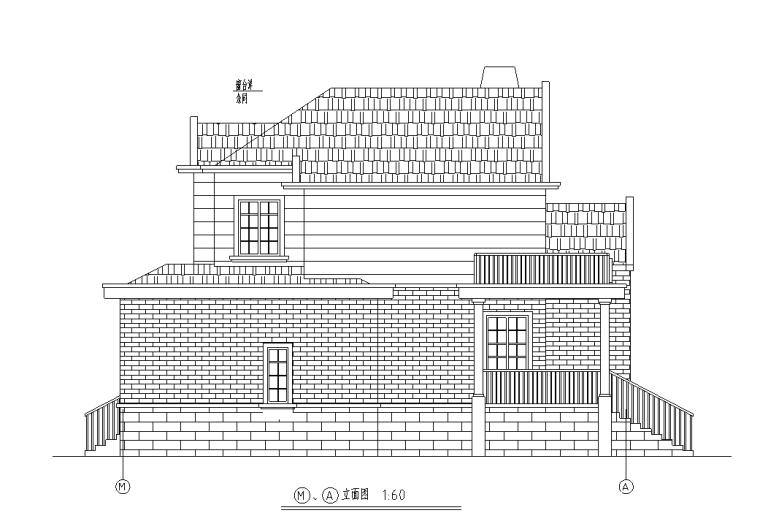 现代风格多层独栋别墅建筑施工设计