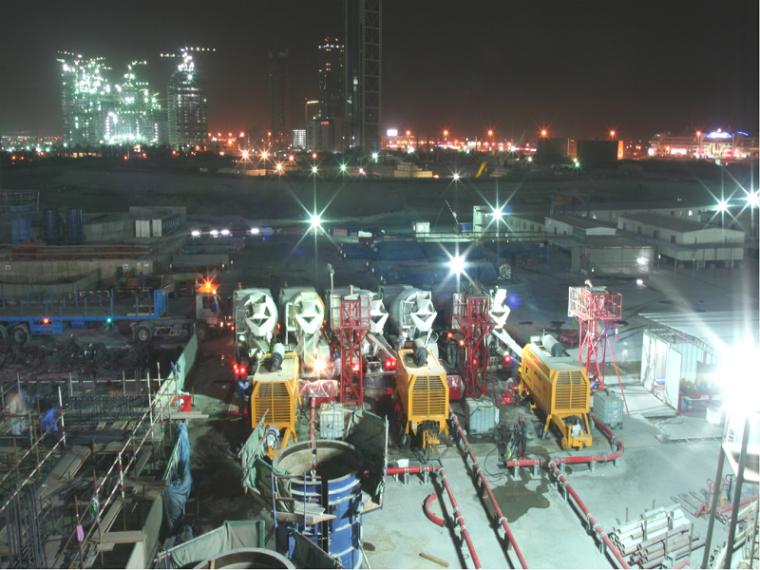迪拜塔混凝土泵送项目超高层建筑泵送案例