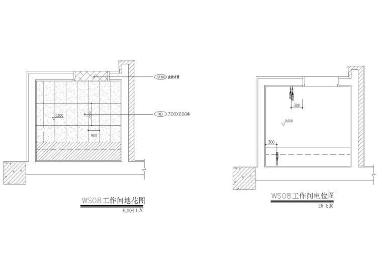 工作间地坪电位图