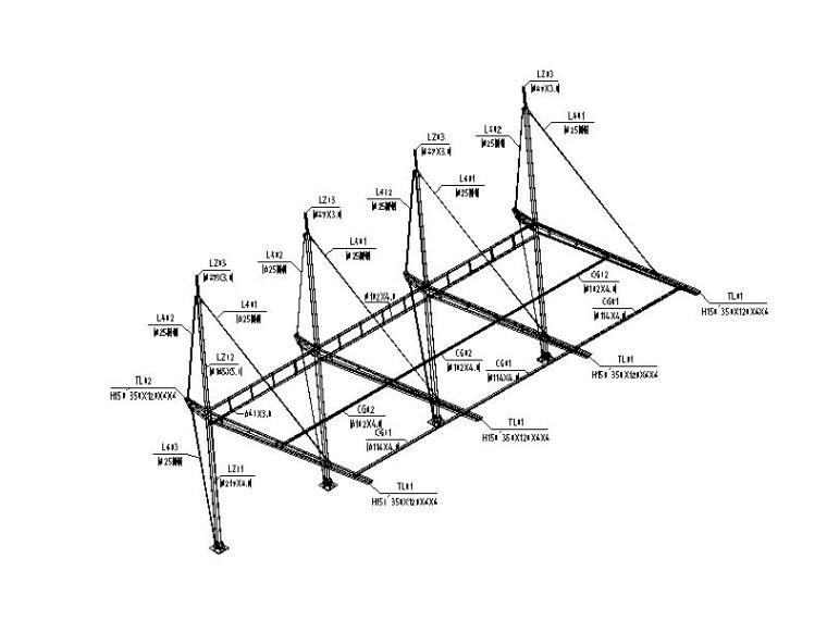 车棚膜结构施工图(2014,图纸齐全)