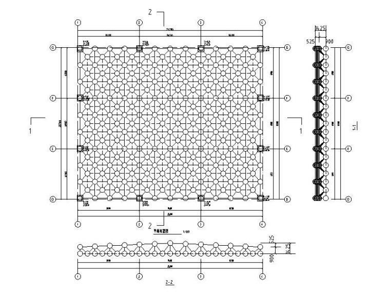 普通螺栓球双层网架结构施工图2015