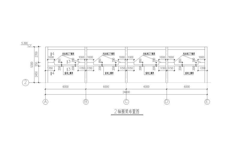 单层框架结构工业辅助房结构施工图纸