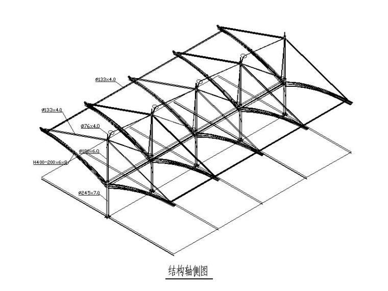 救护车车棚膜结构施工图(图纸齐全,2011)