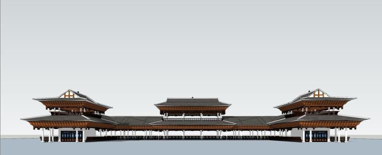 贵州侗族风雨桥建筑模型设计