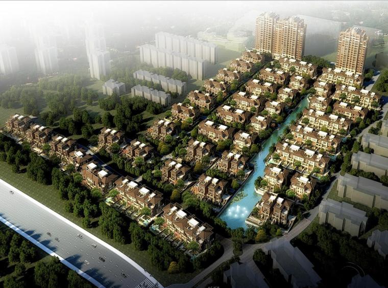 [山东]国际社区滨水豪宅建筑方案文本