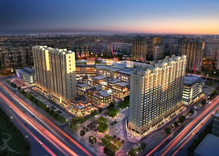 [北京]龙湖大兴天街建筑模型设计