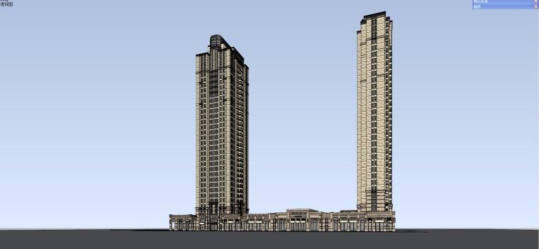 [广东]珠海万科欧陆风格住宅建筑模型设计