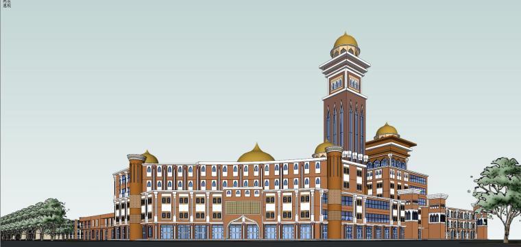 新疆伊斯兰风格建筑模型设计