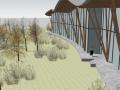 万科青岛小镇游客中心建筑模型设计