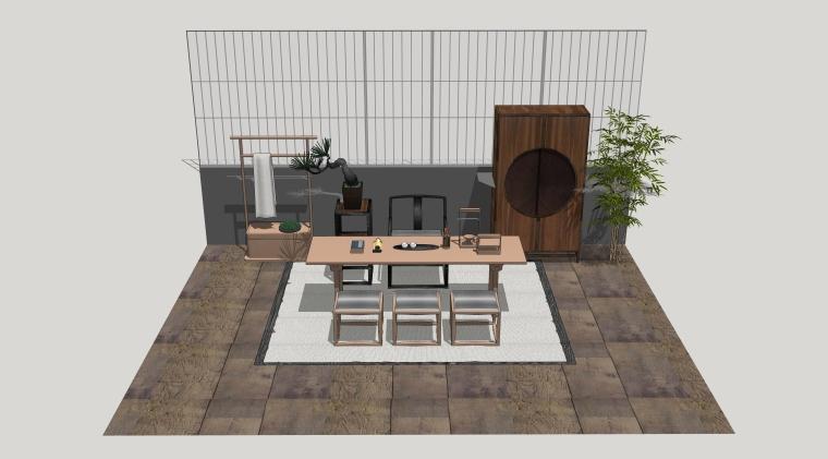 室内SU模型_桌椅组合(50套)2