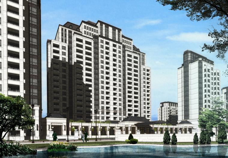 [吉林]长春万科柏翠园住宅建筑模型设计