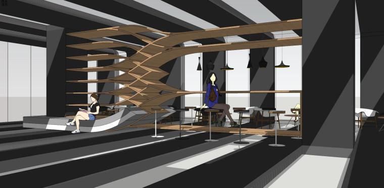 现代时尚/概念咖啡 室内 (4)