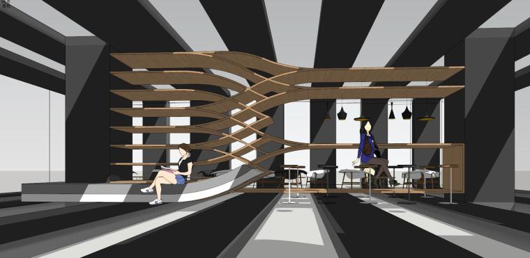 现代时尚/概念咖啡 室内 (5)