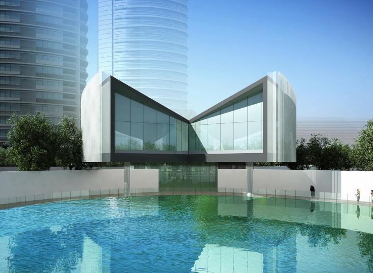 现代风格翡翠滨江售楼处设计
