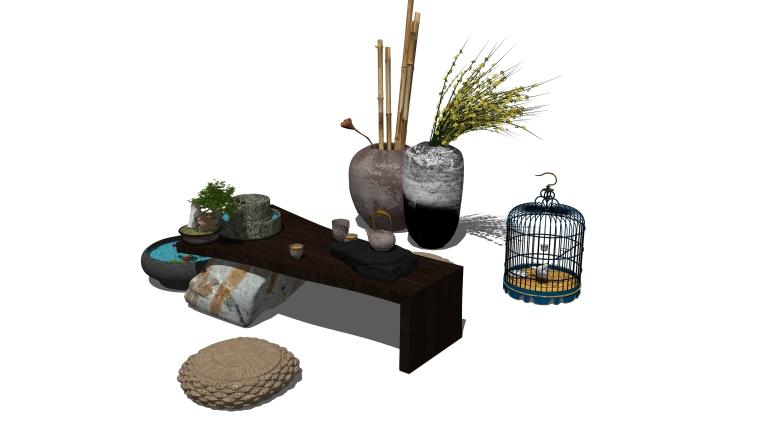 新中式禅意茶桌椅组合