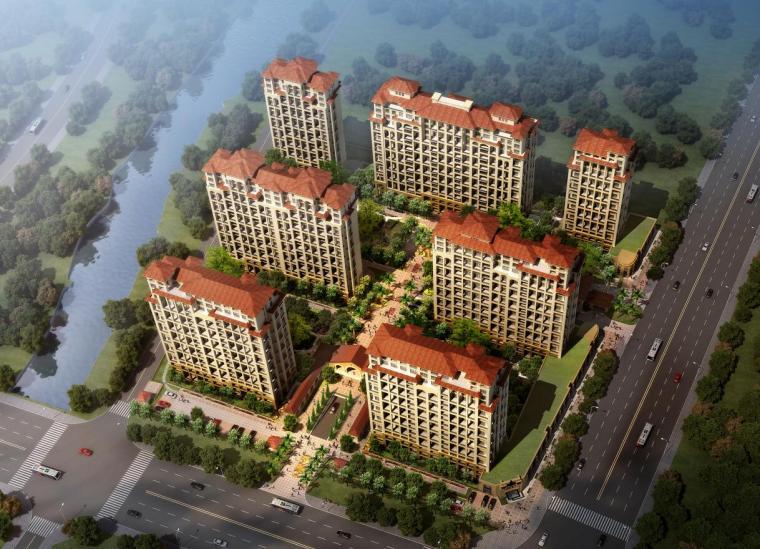 [浙江]欧式风格高档住宅小区建筑方案文本