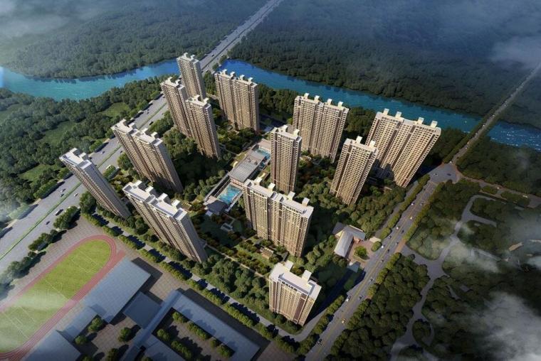 [江苏]南京万科新中式风格翡翠公园建筑模型