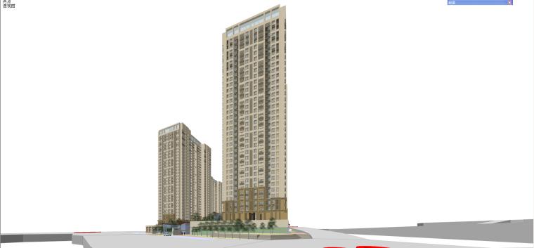 欧陆风格金色悦城建筑模型设计