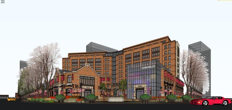 [江苏]万科褐石商业+洋房建筑模型设计