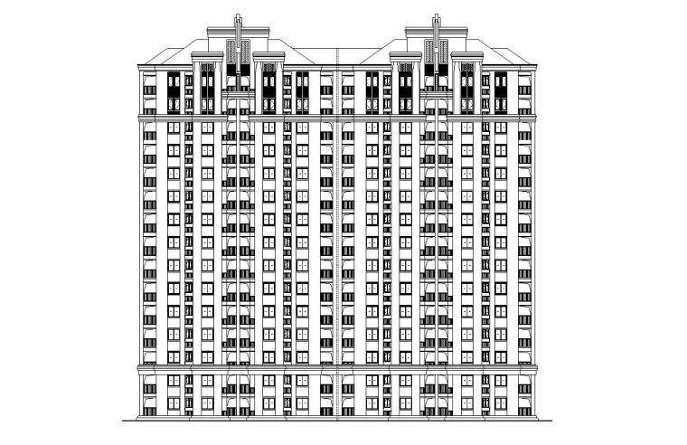 [上海]欧陆风格新凯家园住宅建筑施工图