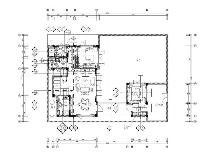 新古典_新中式四套样板间CAD施工图+效果图