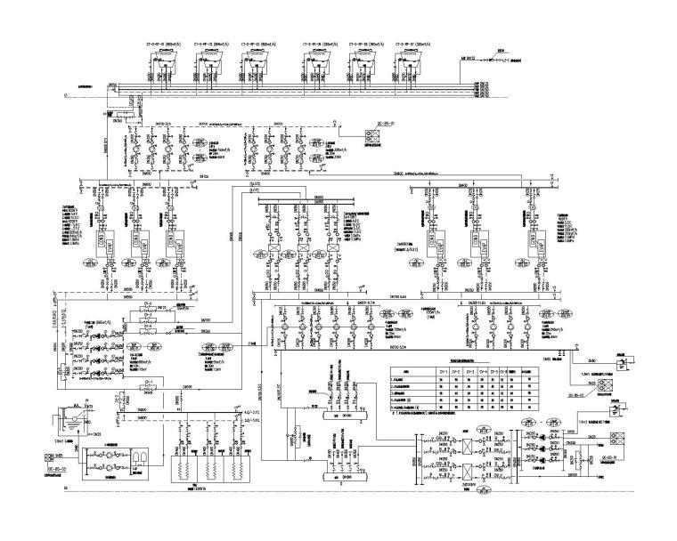 通用暖通设计说明、系统图、材料表、大样图