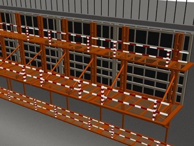 模板临时防护栏杆
