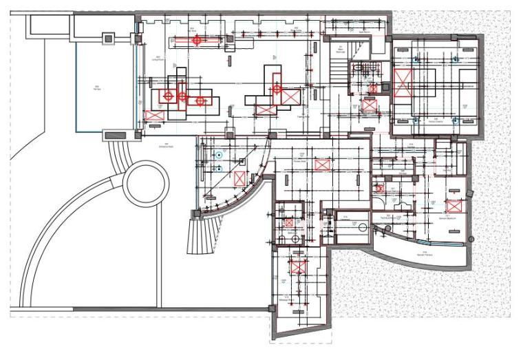 成都麓湖生态城别墅B户型样板间施工图+效果