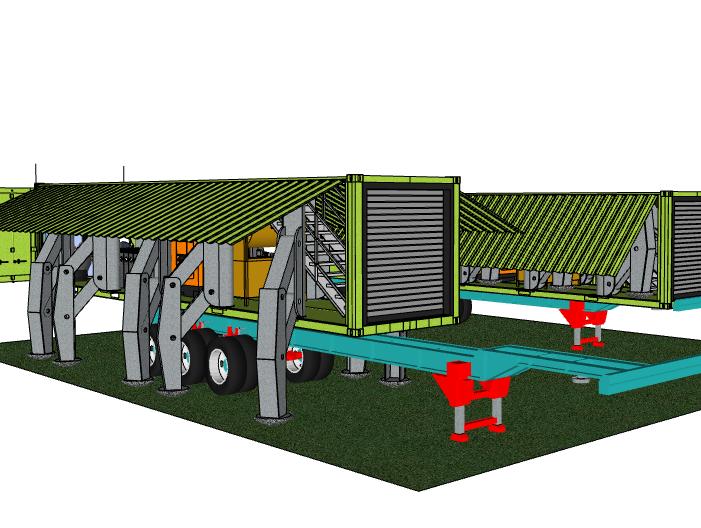 可移动集装箱工业建筑模型设计