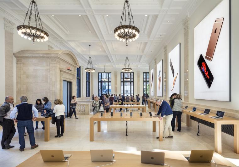 美国上东区苹果旗舰店官方摄影丨18P