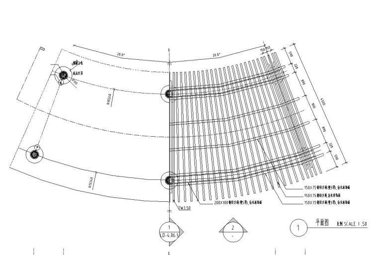 景观细部施工图|廊架七详图设计