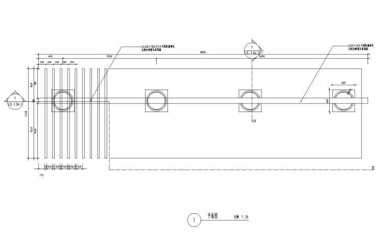 景观细部施工图|廊架十详图设计