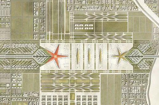 那些「落选」的北京大兴机场方案,点赞!_12