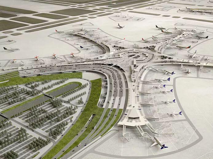 那些「落选」的北京大兴机场方案,点赞!_17