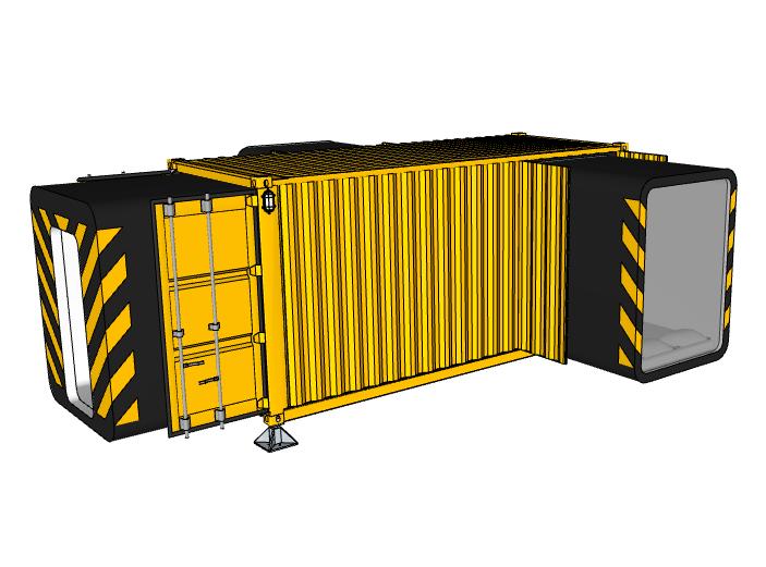 小型集装箱居住建筑模型设计