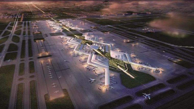那些「落选」的北京大兴机场方案,点赞!_4