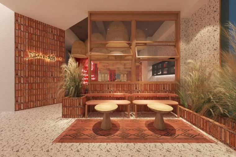 上海艺科|料理餐厅设计-岁月感和现代的美