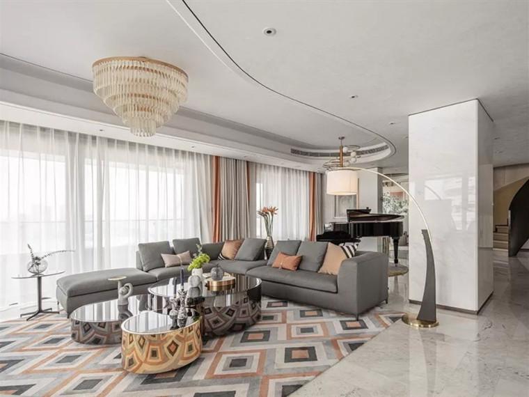 上海黄浦滨江380m²顶层复式住宅