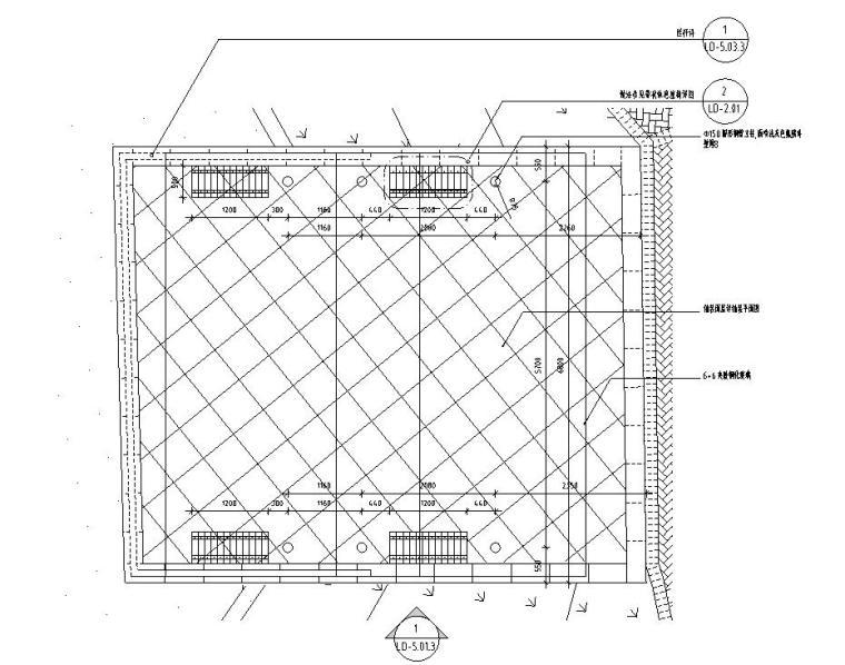 景观细部施工图 廊架三详图设计