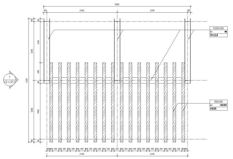 景观细部施工图 廊架八详图设计