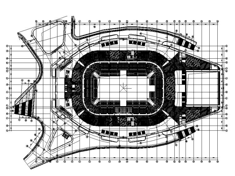 某奥体中心体育馆建筑施工图(2015)