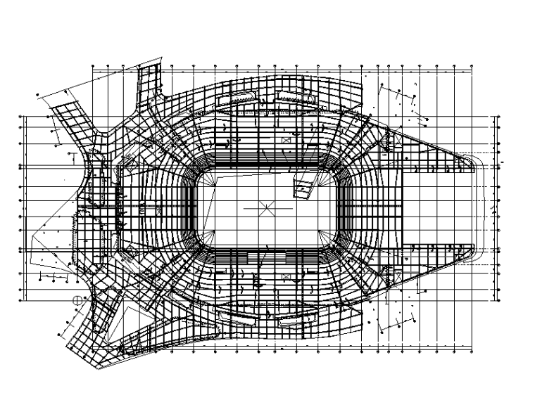 体育馆二层埋件布置图