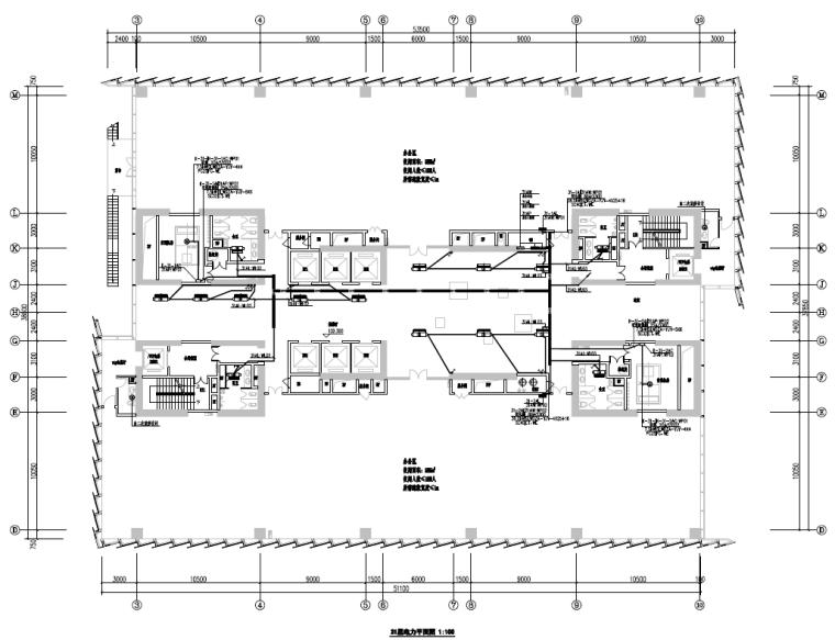 广东深圳大型物流中心电气施工图