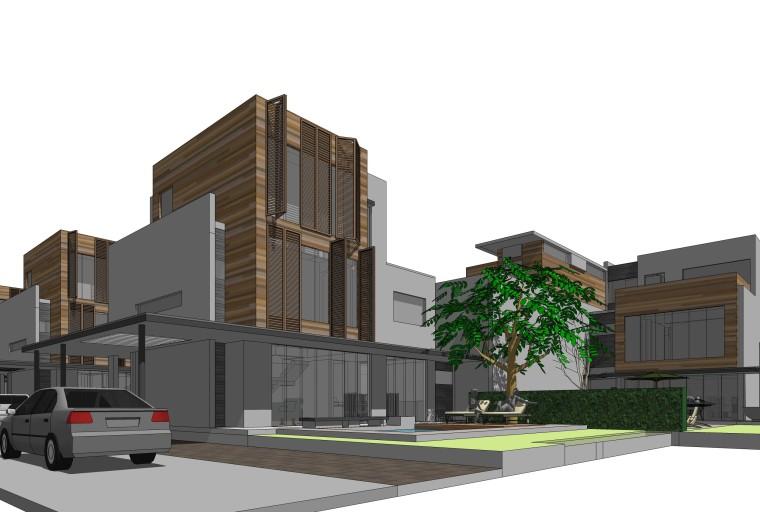 [上海]现代风格宝山别墅建筑模型设计