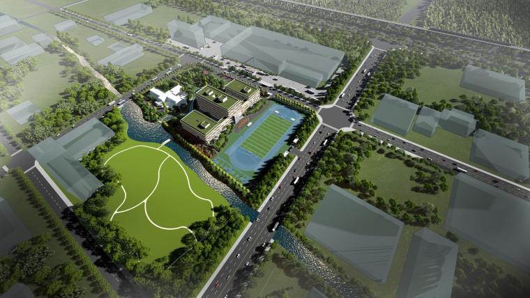 [上海]浦东新区宏文学校效果图+设计方案