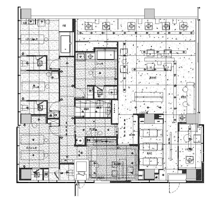 [上海]芭尚造型效果图+内装施工图+机电图