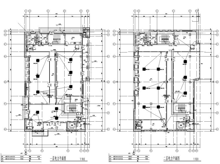 福建创意创新产业园办公楼组团电气施工图