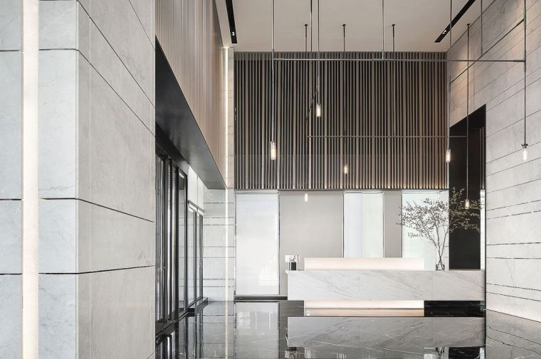 400㎡黑白灰藝術售樓中心設計
