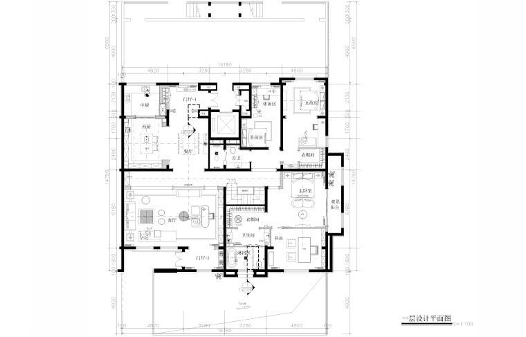 [山东]成象-济南建邦样板间下跃户型施工图